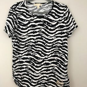 Micheal Kors Zebra print short sleeve top